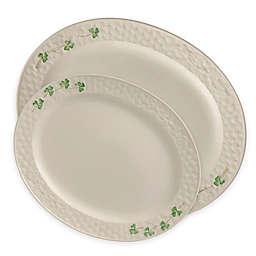 Belleek Shamrock Oval Platter