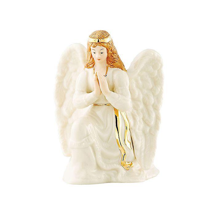 Alternate image 1 for Belleek Holiday Festive Classic Nativity Manger Angel
