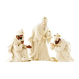 Belleek Holiday Festive Classic Nativity The 3 Kings Set