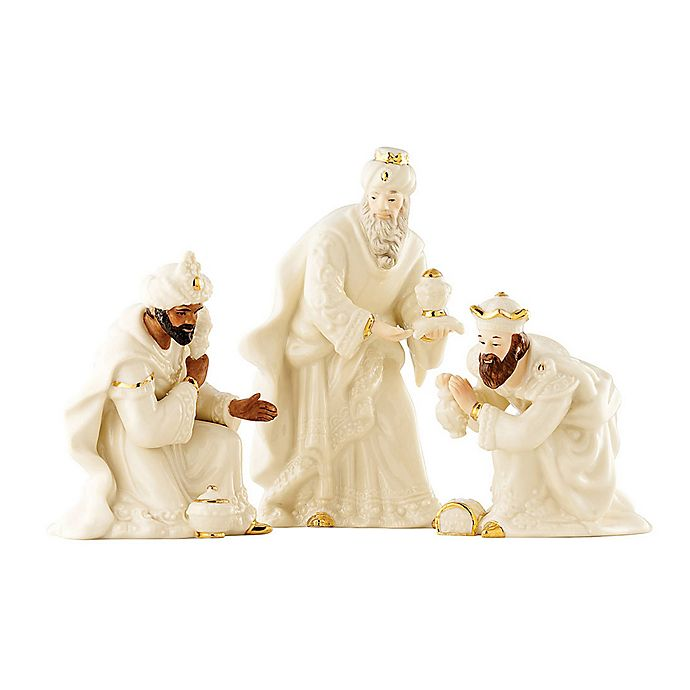 Alternate image 1 for Belleek Holiday Festive Classic Nativity The 3 Kings Set