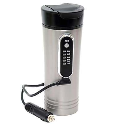 Roadpro® 15 oz. Heated Travel Mug in Stainless Steel