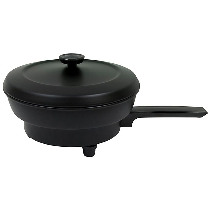 Alternate image 1 for Roadpro® Portable 12-Volt 12 oz. Frying Pan in Black