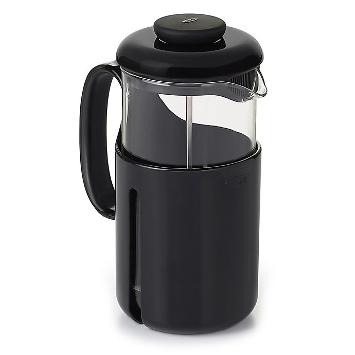 Alternate image 1 for OXO Good Grips® Venture 8-Cup French Press Coffee Maker in Black/Clear