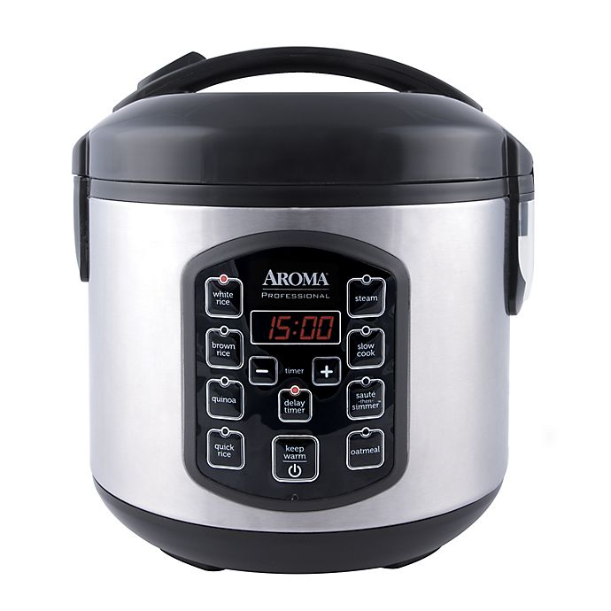 Alternate image 1 for Aroma® Professional™ Cool Touch 8-Cup Rice Cooker in Stainless Steel
