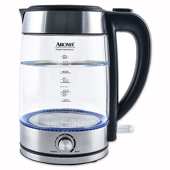 Alternate image 1 for Aroma® Professional™ 1.7-Liter Electric Kettle in Stainless Steel