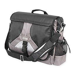 Geoffrey Beene Tech 14-Inch Messenger Bag in Black/Grey
