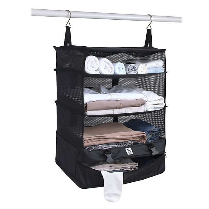 Alternate image 1 for Stow-N-Go Portable Luggage System in Black