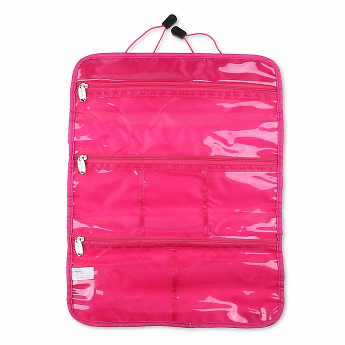 Alternate image 1 for MIAMICA® Nylon Jewelry Roll in Pink