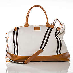 Brouk & Co. Weekender Striped Bag in White