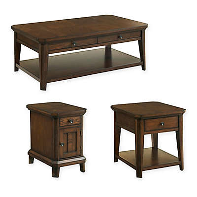 Broyhill Estes Park Table Collection in Brown Oak