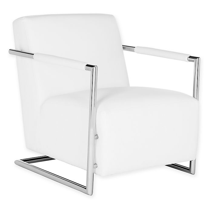 Alternate image 1 for Safavieh Couture Ivan Leather Club Chair in White