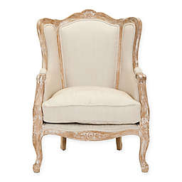 Safavieh Couture Fallon Wing Chair in Linen