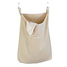 Over-the-Door Canvas Laundry Bag in Natural