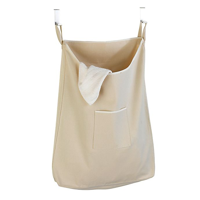 Alternate image 1 for Over-the-Door Canvas Laundry Bag in Natural