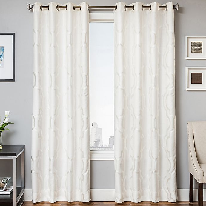 Alternate image 1 for Trinidad 84-Inch Window Curtain Panel in White