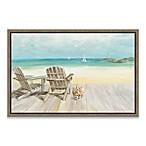Seaside Morning No Window Framed Canvas Wall Art