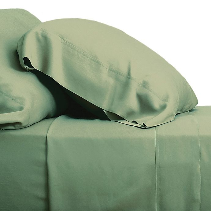 Alternate image 1 for Cariloha® Resort Sateen Viscose Made From Bamboo Pillowcase in Caribbean Mint (Set of 2)