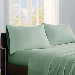True North by Sleep Philosophy Micro Fleece California King Sheet Set in Sage