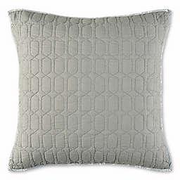 Nico European Pillow Sham in Grey/Aqua