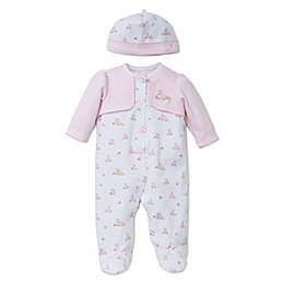 Little Me® Preemie 2-Piece Baby Bunnies Footie with Faux Jacket and Hat Set
