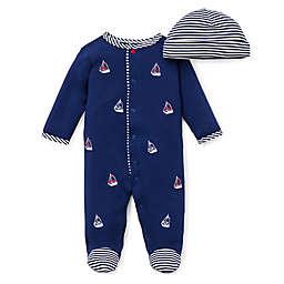 Little Me® Preemie 2-Piece Sailboats Footie and Hat Set