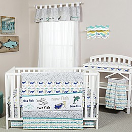 Trend Lab® Dr. Seuss™ New Fish Crib Bedding Collection in Blue/Green