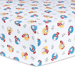 Trend Lab® Dr. Seuss™ Cat in the Hat Fitted Crib Sheet in Red/Blue