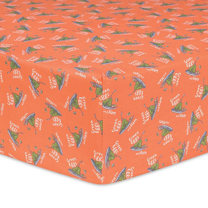 Trend Lab 174 Dr Seuss Green Eggs And Ham Fitted Crib Sheet