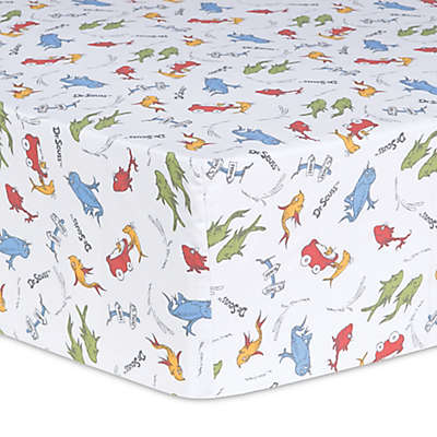 Trend Lab® Dr. Seuss™ One Fish, Two Fish Fitted Crib Sheet