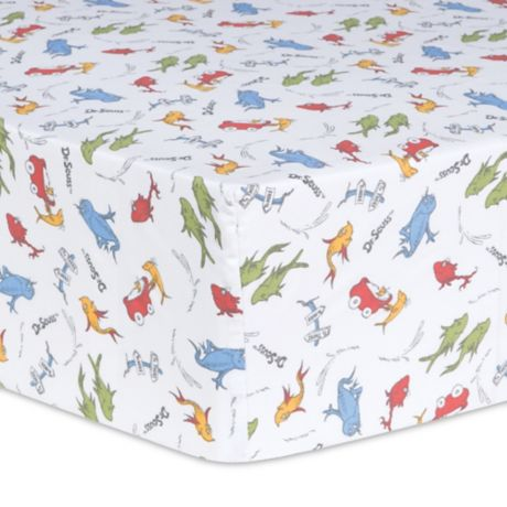 Trend Lab 174 Dr Seuss One Fish Two Fish Fitted Crib Sheet