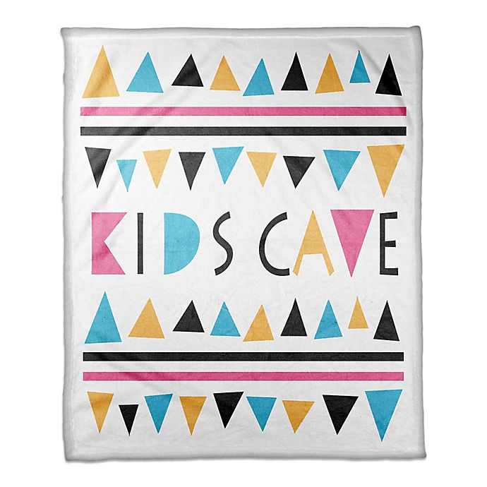 Alternate image 1 for Designs Direct Kids Cave Triangle Throw Blanket