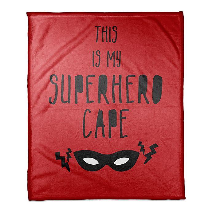 Alternate image 1 for Designs Direct Superhero Cape Throw Blanket