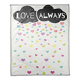 "Designs Direct ""Love Always"" Cloud Throw Blanket"