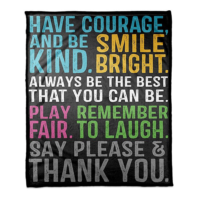 Alternate image 1 for Designs Direct Be Awesome Throw Blanket