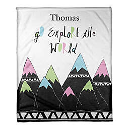 "Designs Direct ""Go Explore the World"" Throw Blanket"