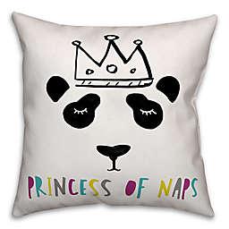 "Designs Direct ""Princess of Naps"" Children's Pillow in White/Black"
