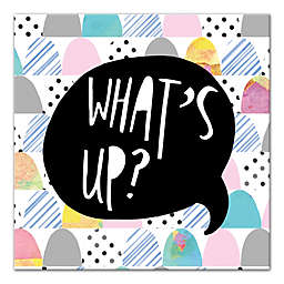 "Designs Direct Be Bold Collection 12-Inch x 12-Inch ""What's Up?"" Canvas Wall Art"