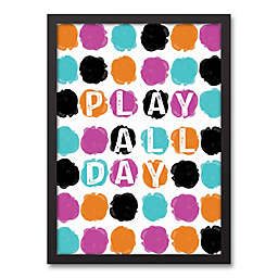 """Designs Direct Be Bold Collection 12-Inch x 18-Inch """"Play All Day"""" Canvas Wall Art"""