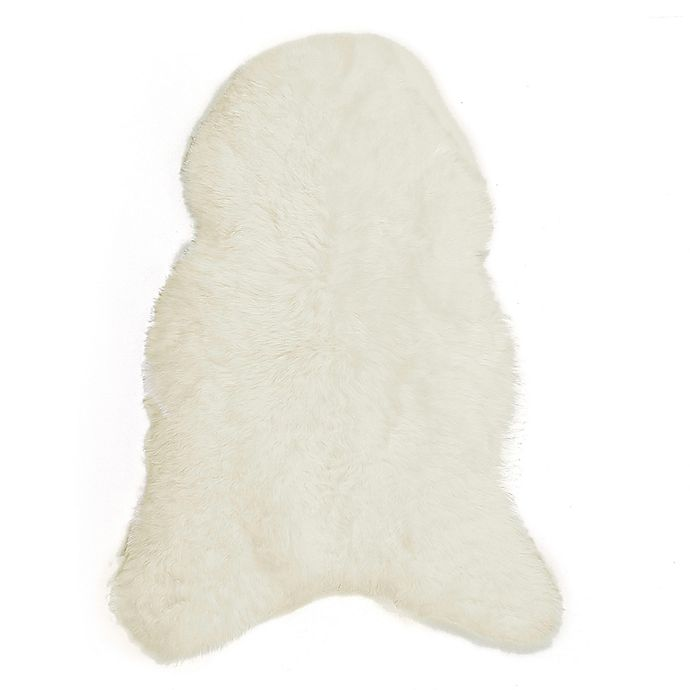 Alternate image 1 for Natural 100% Icelandic Sheared Sheepskin 2-Foot x 3-Foot Accent Rug in White