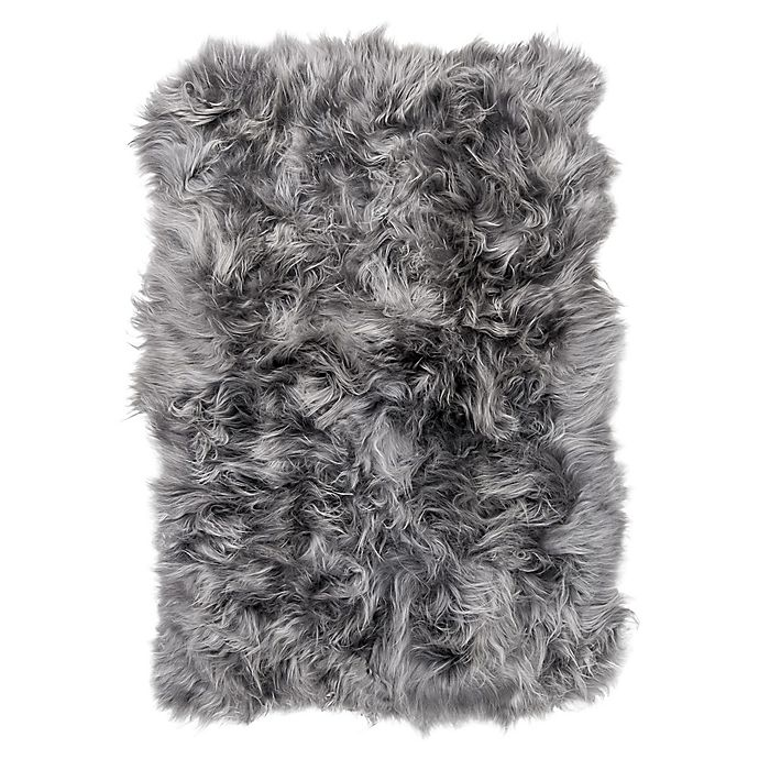 Natural 100 Icelandic Sheepskin Square Patch 4 Foot X 6