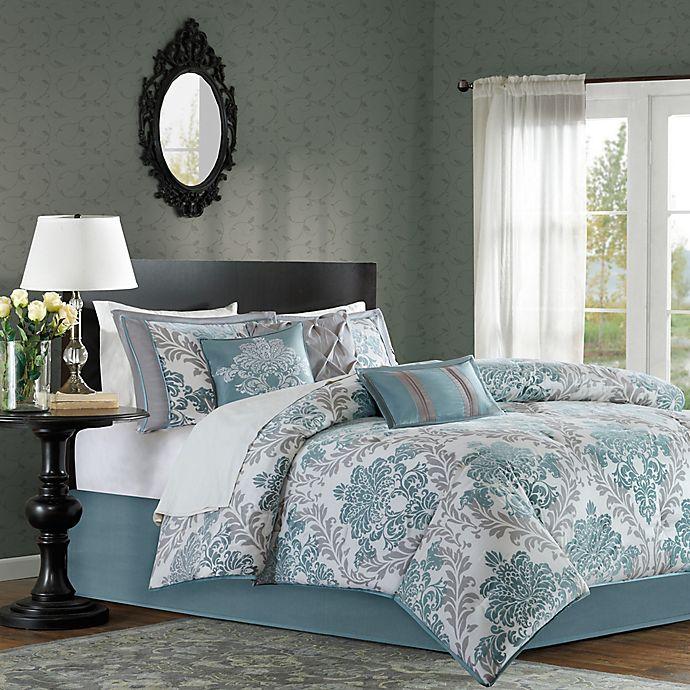 Alternate image 1 for Madison Park Bella 7-Piece King Comforter Set in Aqua