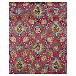 Safavieh Madison Gilly 9-Foot x 12-Foot Area Rug in Fuchsia/Gold