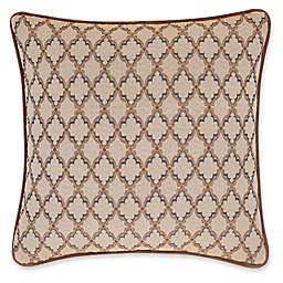 J. Queen New York™ Serenity Striped Tufted Square Throw Pillow in Spice