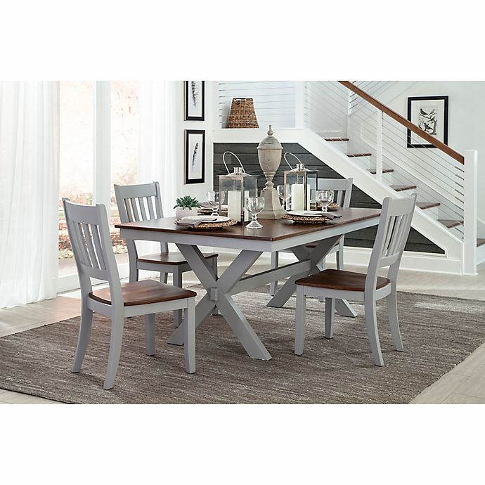 Intercon Furniture Small Spaces 5 Piece Trestle Dining Set With Side