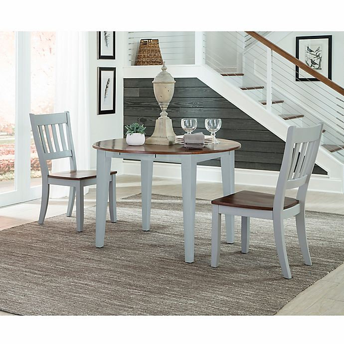 intercon furniture small space 3 piece drop leaf dining set with side chairs in cherry bed. Black Bedroom Furniture Sets. Home Design Ideas