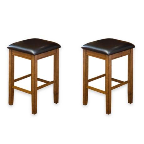 Buy Intercon Furniture Siena 24 Inch Backless Bar Stools
