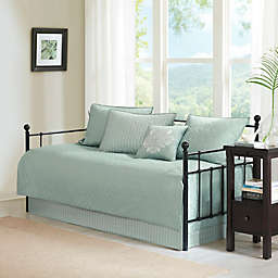 Madison Park Quebec 6-Piece Daybed Set in Seafoam