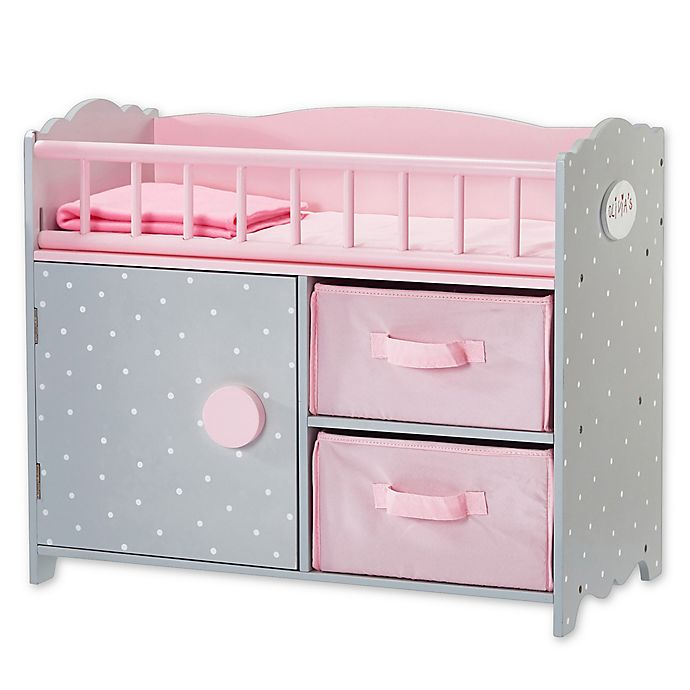 Alternate image 1 for Olivia's Little World Polka Dots Princess Crib in Pink