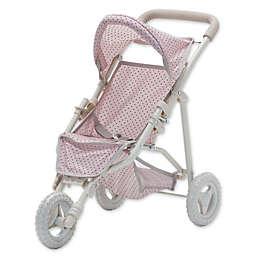 Olivia's Little World Polka Dots Princess Baby Doll Jogging Stroller in Pink/Grey