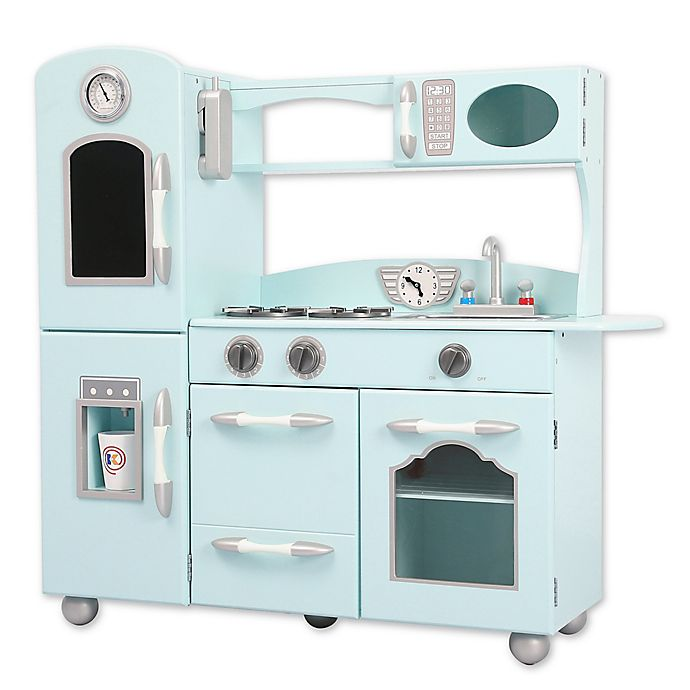 Alternate image 1 for Teamson Kids My Little Chef Retro Play Kitchen in Mint